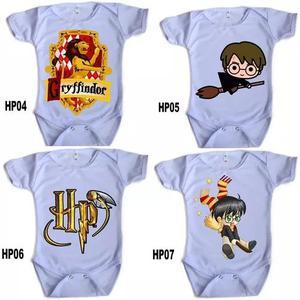 Roupa De Criança Body Manga Curta Personalizado Harry