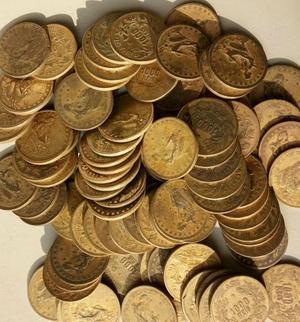 1 lote de 100 moedas de  reis compro e vendo moedas para