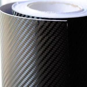Adesivo Fibra De Carbono Preto 3d Teto E Capo 4x1,40 Mt