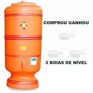 Filtro De Barro São Pedro 20 Litros + 3 Boias Brinde