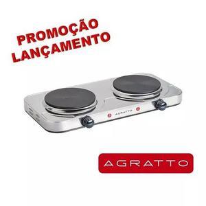 Fogão Eletrico Inox 2 Bocas Agratto 2000w Original C/ Nf