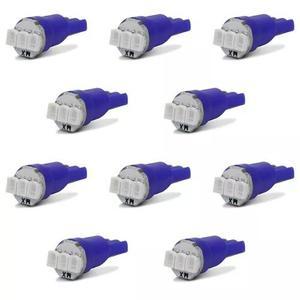 Kit 10 Lâmpadas Led T5 3 Leds 3smd1206 0,2w Luz Azul Painel