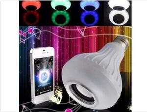 Lampada Musical De Led Bulbo Bluetooth Rgb + Controle