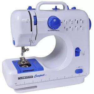 Máquina De Costura Portátil Incasa Compact Bivolt Branca E