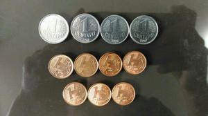 Kit com 11 moedas de um centavo