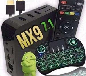 Tv Box MXQ 4K. Android 7.1.2 Transf. sua tv em Smart + tecla