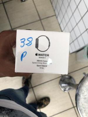 Apple Watch serie 3 38 mm space gray lacrado