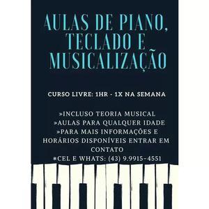 Aula Particular De Piano, Teclado E Musicalização