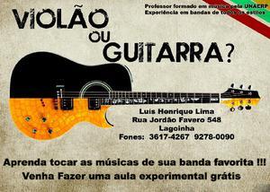 Aulas de violão e guitarra em ribeirão preto