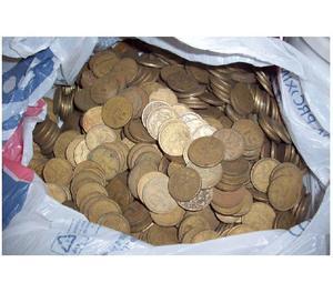 COMPRO 100 QUILOS DE MOEDAS 2 CRUZEIROS 1942 A 1956 R$7.000