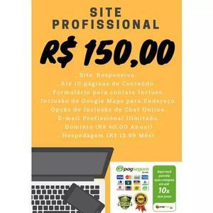Criação De Site Profissional + Logo Profissional De Brinde