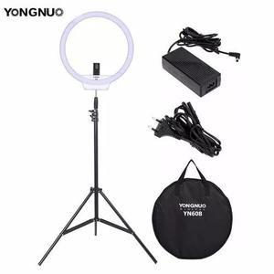 Iluminador Ring Light Yongnou Yn608 + Fonte + Tripe.