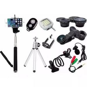 Kit Youtuber Mini Tripé Bastão De Selfie Microfone De