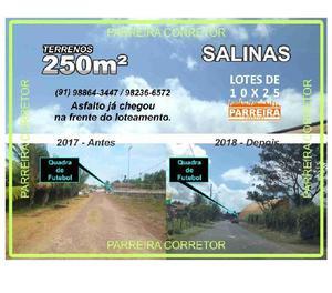 Lotes a venda em Salinas, terreno 10x25 loteamento Preamar