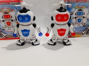 Kit Com 2 Brinquedo Robô Infantil, Dança Com Luzes E Sons