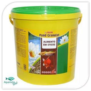 Sera Pond Granulat Balde Com 2,8kg Ração P/ Carpas E
