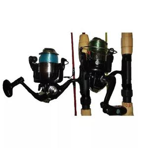 Kit Pesca 2 Molinete 6 Rolamentos + 2 Vara Piau 1,50 M