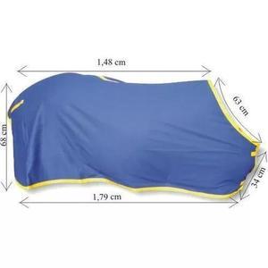 Capa Para Cavalo De Brim Forrada Com Cobertor