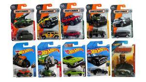 Kit Com 10 Carrinhos Hotwheels E Matchbox