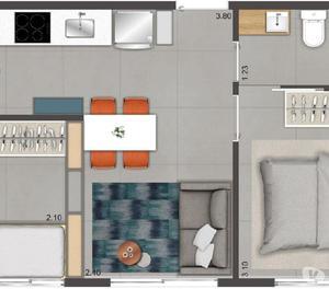Apartamentos 2 dormotórios Minha Casa Minha Vida