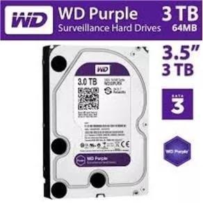 Hd Interno Wd Purple 3tb Para Vigilância/dvr 3tb