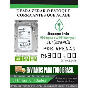 Hd Seagate 2tb P/ Desktops E Dvr Novo Nota Fiscal + Garantia