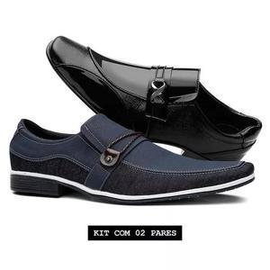 Kit 2 Pares- Sapato Casual Thor+sapato Social Verniz Venetto