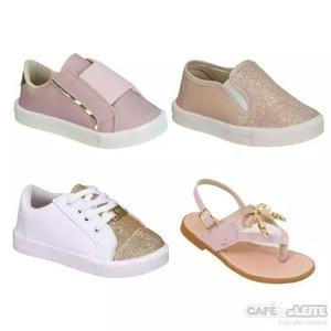 kit Com 4 Pares)sandálias/tênis Infantil F