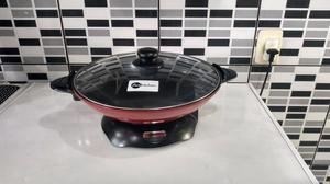 Panela Elétrica Wok Vermelha Fun Kitchen 110V