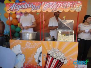 Pipoca e Algodão doce em Ribeirão Preto, SP. Tel.: (16)
