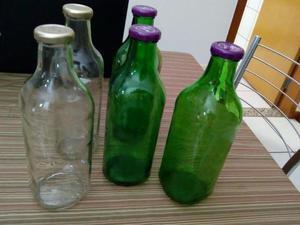 Conjunto de 5 garrafas de vidro para artesanato