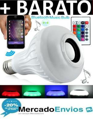 Lampada Led Music Bluetooth Rgb 12w Top Com Controle Remoto