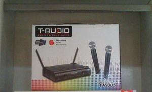 Microfone T-AUDIO Sem Fio Duplo