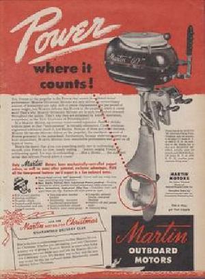 Motor de popa martin 1950