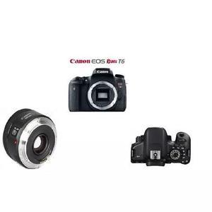Corpo Canon T6 + Lente Canon 50 Mm 1.8 Pronto Entrega