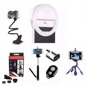 Ring Light + Kit Youtuber Para Celular + Suporte Flexivel +