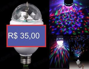 Lâmpada de LED giratória RGB ideal para festas pronta