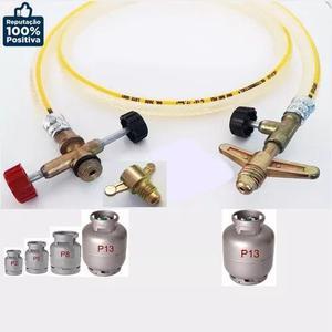 Kit Mangueira Gas Transferencia Botijao P13 P/ P2 E P5 Adapt