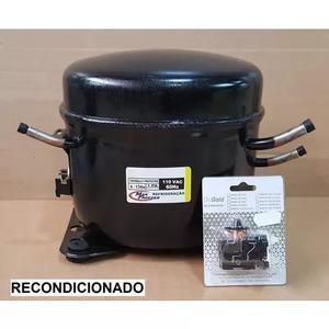 Motor De Geladeira 1/4 Hp 127v R134a Recond + Filtro Secador