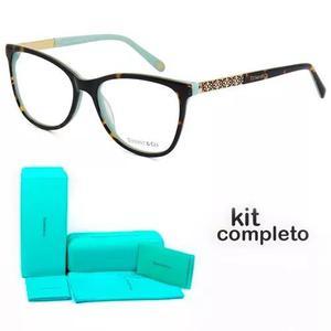 505733942ff03 Armação Oculos De Grau Tiffany   Co. Tf2099 Kit Azul