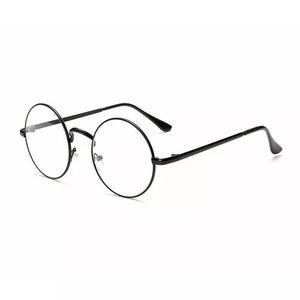 Armação Óculos De Grau Lentes Redondas Preto Harry Potter