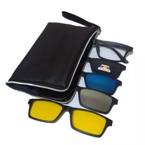 Armação Óculos Grau Sol Clip On Polarizado Espelhado 68
