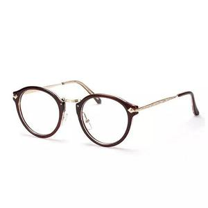 Armação óculos redonda retrô com haste de metal 9d0fd8c46d