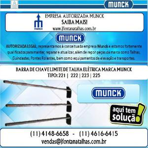 Barra da Chave Limite para Talhas Munck 1141486658 J Fontana