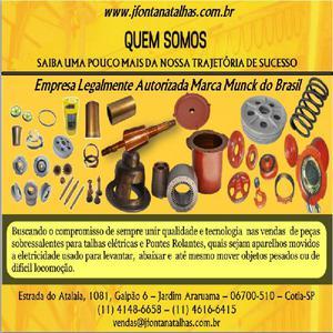 Empresa fornecedora de peças para talhas elétricas munck