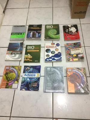Livros do 3° e 2° ano do ensino médio