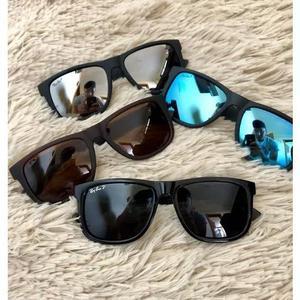 Oculos De Sol Masculino Kit Com 4 Just Quadrado Preto Barato