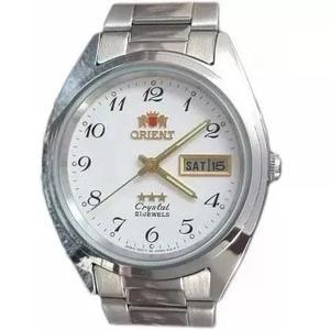 Relógio Orient Automatico Classico Aço Masculino Branco