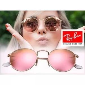 Culos rayban round rb3447 rosa espelhado redondo f efcb69c056