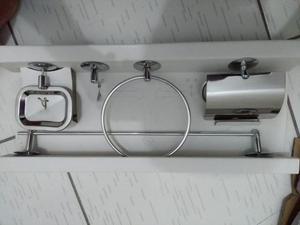 Kit pra banheiro aço inox e aluminio e cromado
